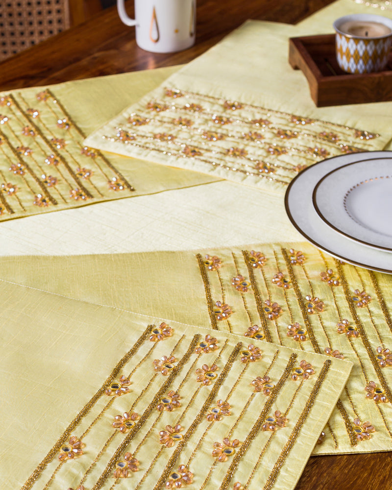 Canary Table Runner and Mats