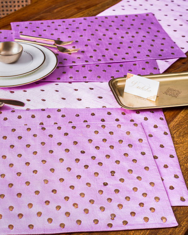 Confetti Table Runner and mats