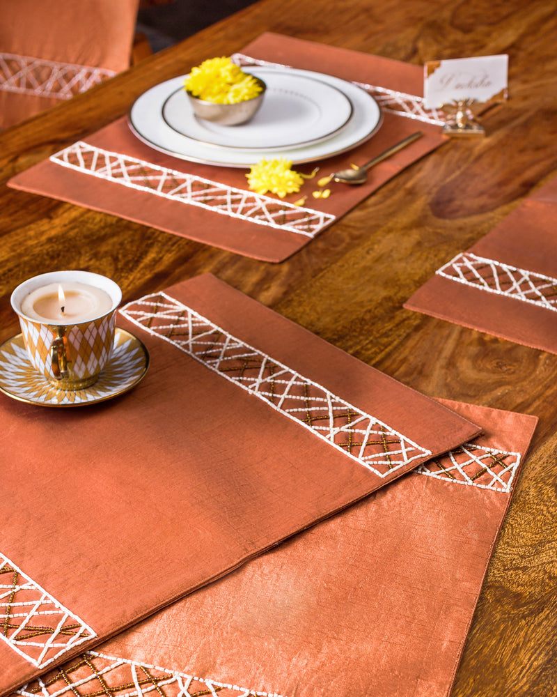 The Chocolate Cut Dana Table Runner and Mats