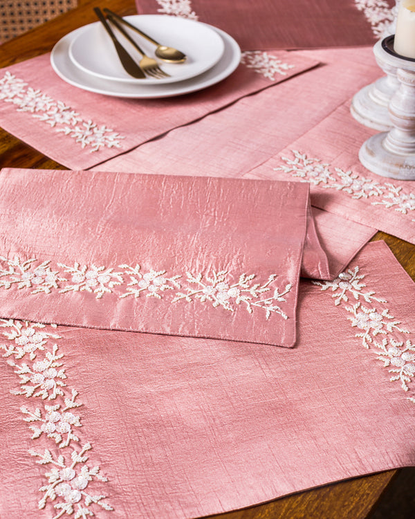 Pink pearl fairy Table Runner and Mats