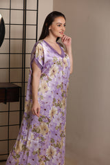 Comfort fit print satin Nighty