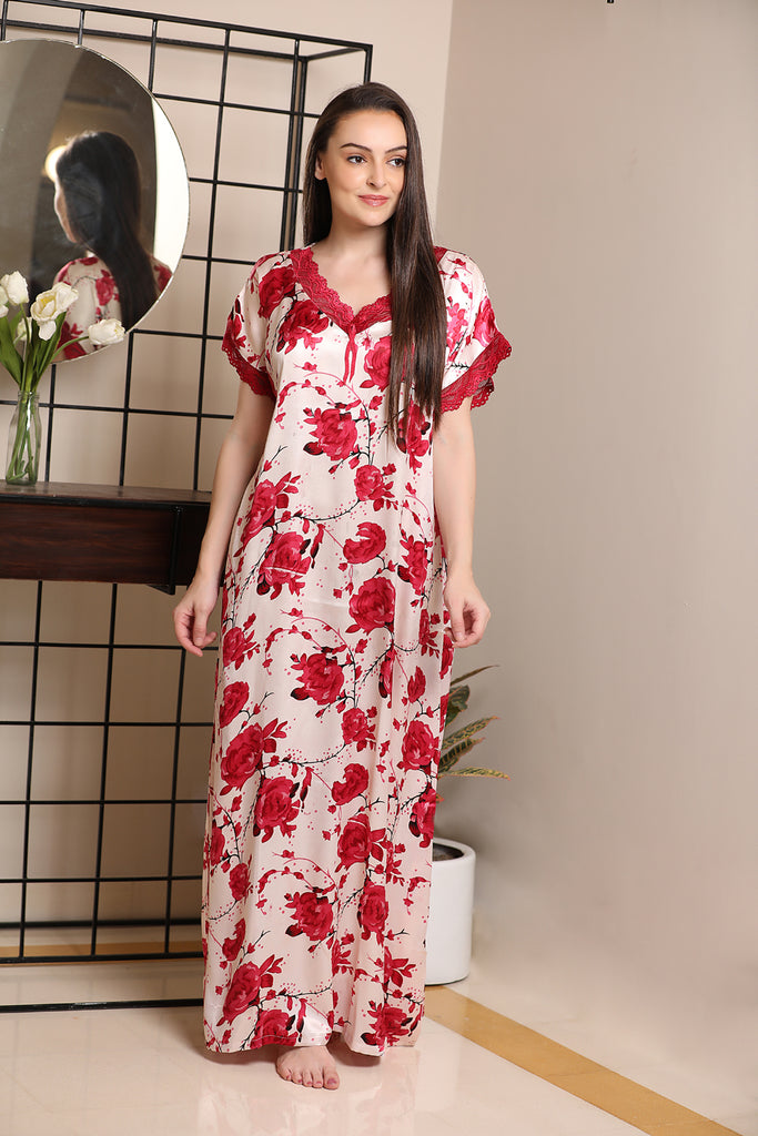 Digital Print Comfort fit Satin Nighty