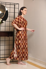 Indian handicraft inspired Kaftan Lounger