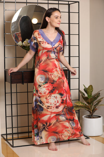 Comfort Print Print Satin Nighty