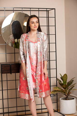 Digital Print short Nightgown set