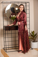 Print Long Nightgown set
