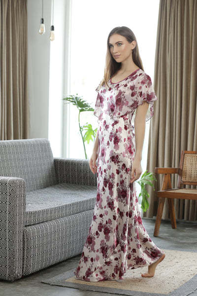 Satin Print Nighty