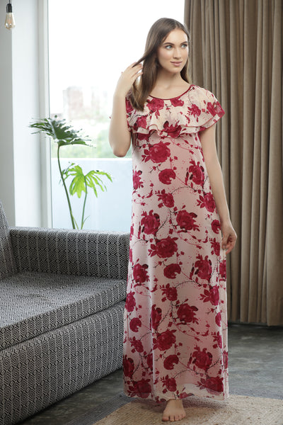 Floral Print Nighty