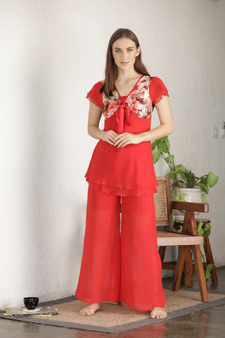 Double Chiffon Night suit