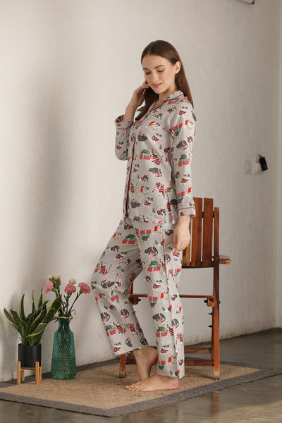 Soft brushed flannel night suit