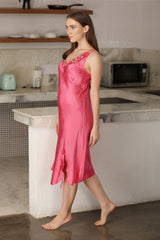 Pink Satin Strap Nighty