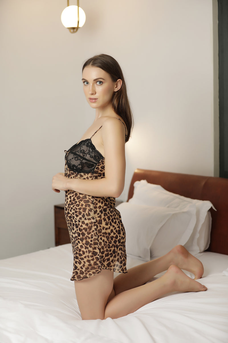 Leopard Print Baby doll