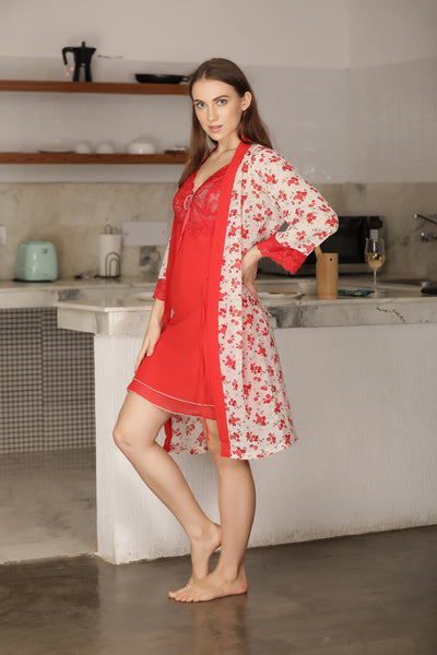Chiffon Nightgown set