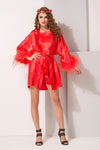 Red Satin 2Pcs Set - Private Lives