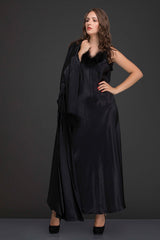 Black Satin 2Pcs Set - Private Lives