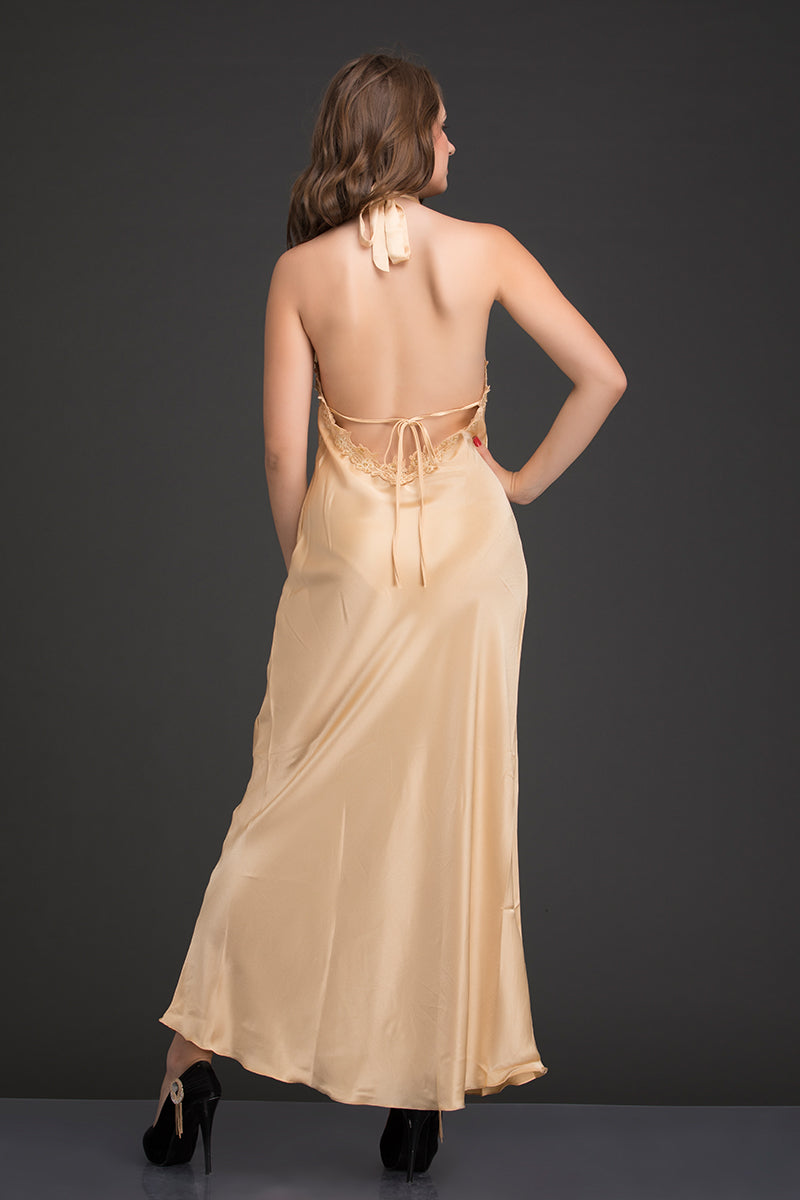 Gold Satin 2Pcs Set - Private Lives