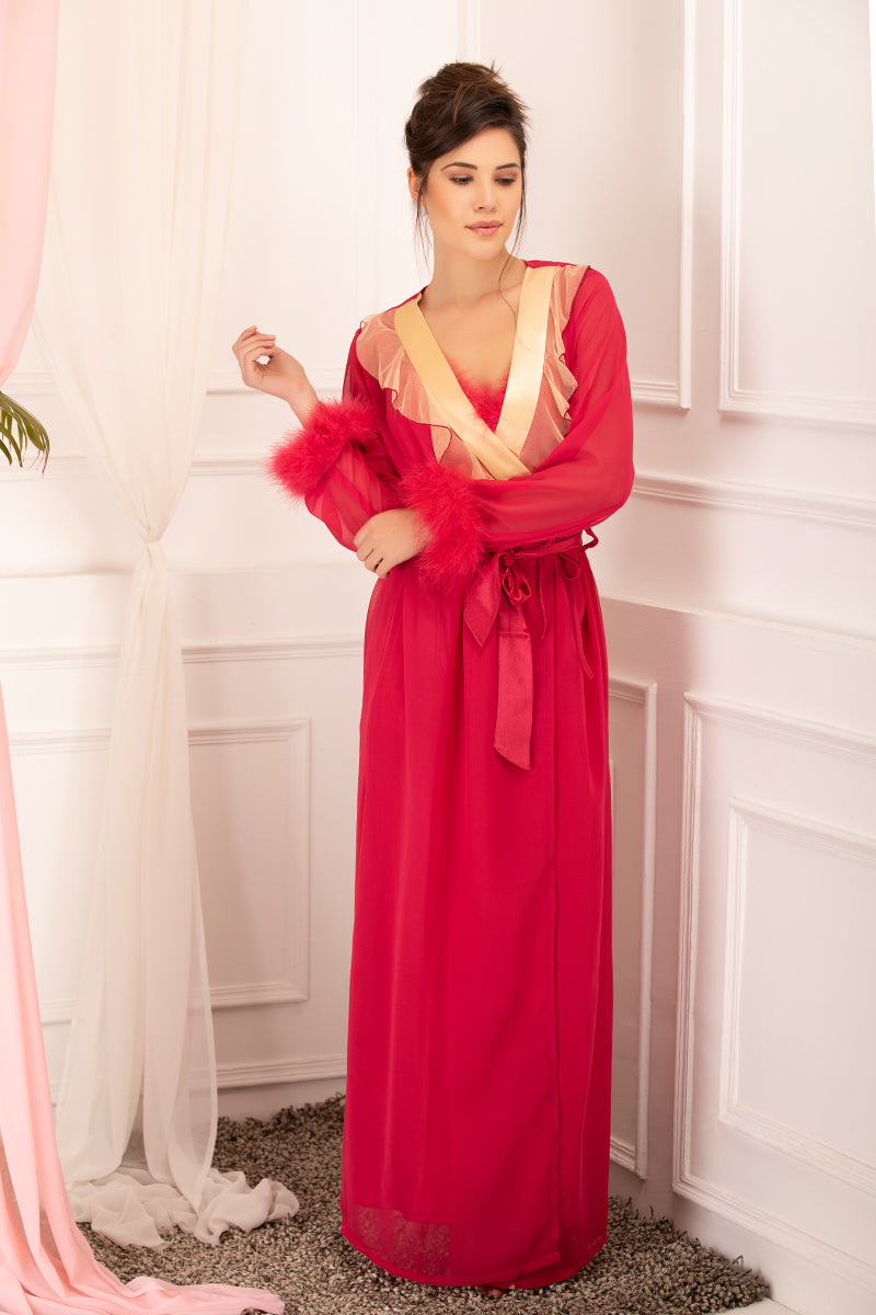 Private Lives Red Chiffon 2Pcs Set - Private Lives