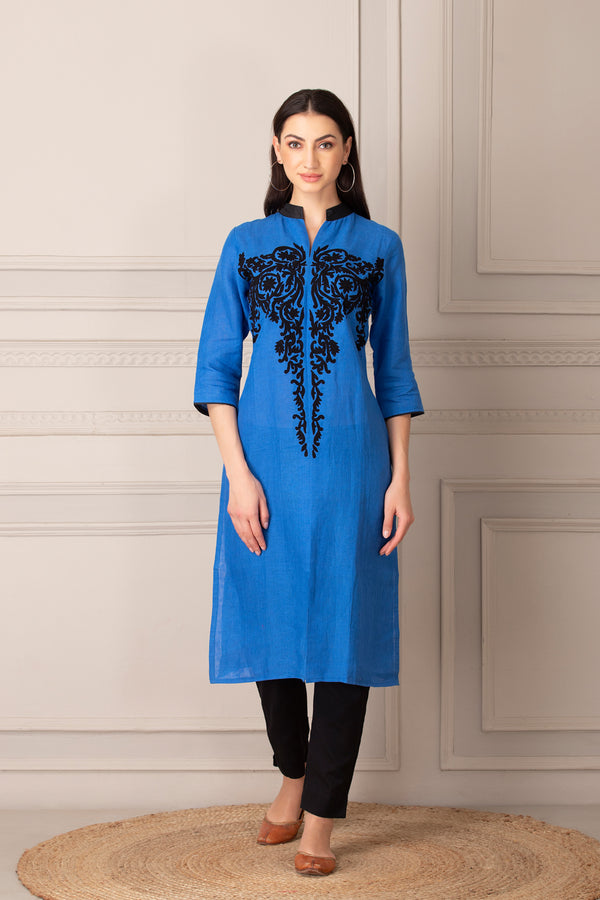Electric Blue Kurti