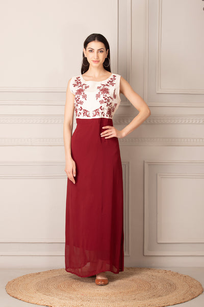 Trendy Maroon Dress