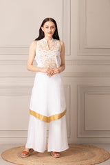 Sophisticated white Kurti