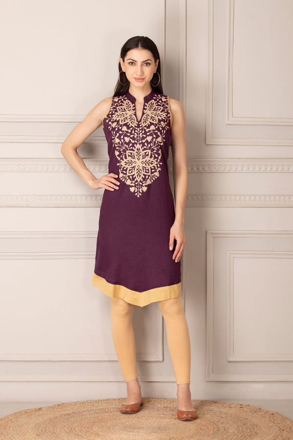 Sleeveless Short Kurti