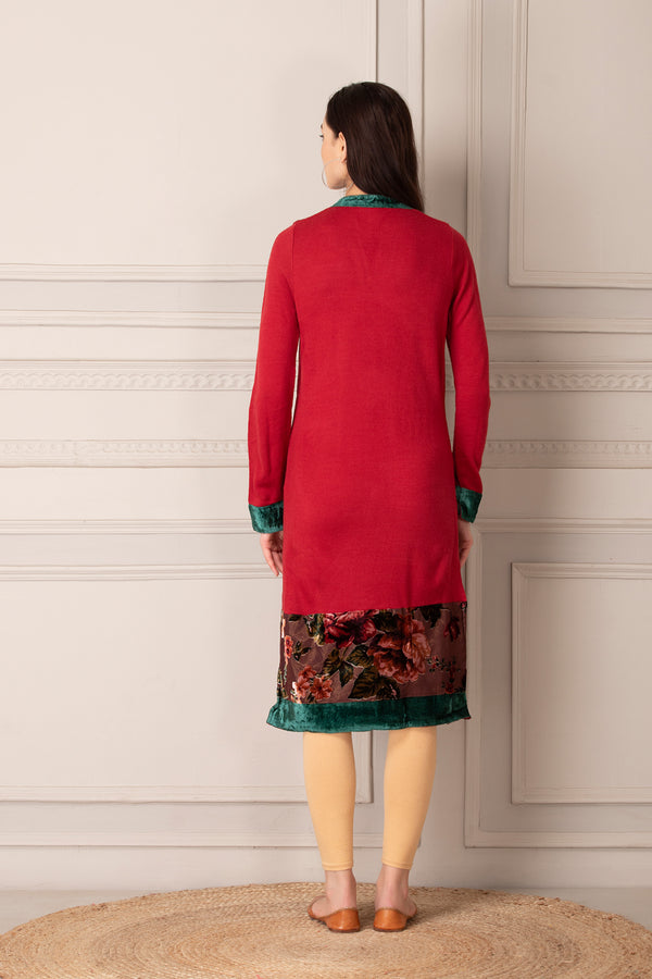 Bright Red Kurti