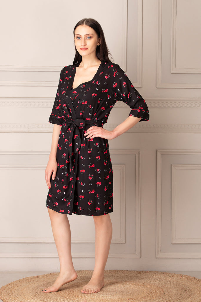 Rayon Short Nighty & Robe