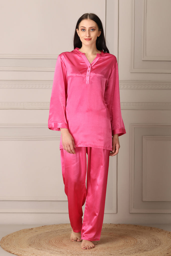 Pink Satin Night suit