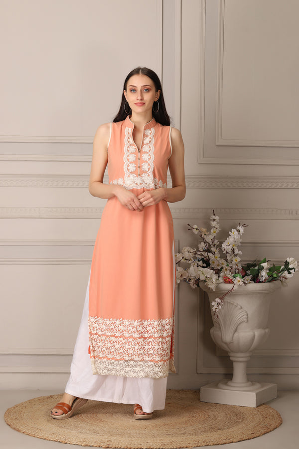 Graceful Peach Kurti