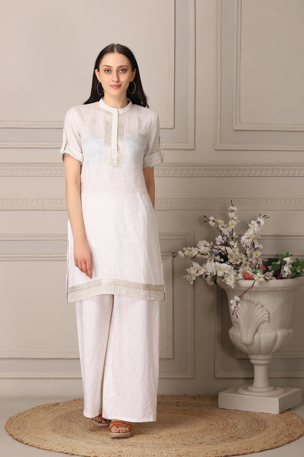Graceful White Kurti