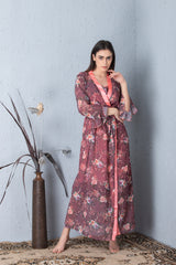 Floral print Nightgown set