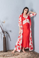 Floral Nightgown set