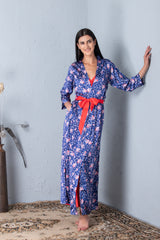 Floral print Long Nightgown set