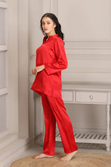 Red Satin Night suit