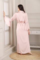 Pink Satin Nightgown set