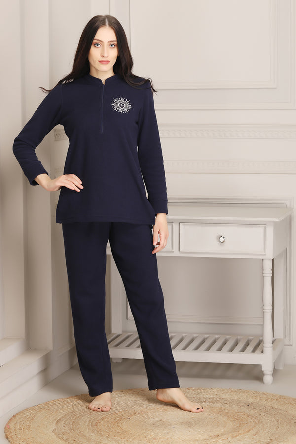Warm Super soft Polar Night suit (Navy Blue)