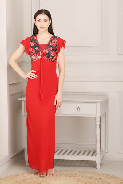 Elegant Double chiffon Nighty
