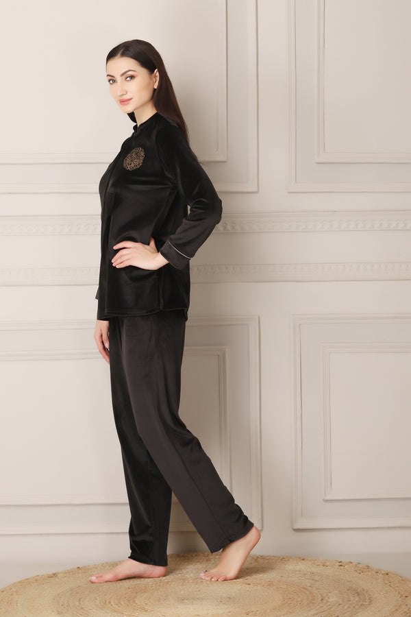 Warm Night suit in Super soft luxe Velvet