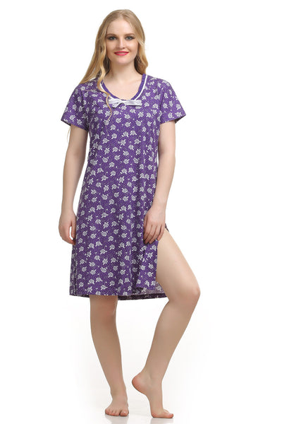 Purple Short Nighty