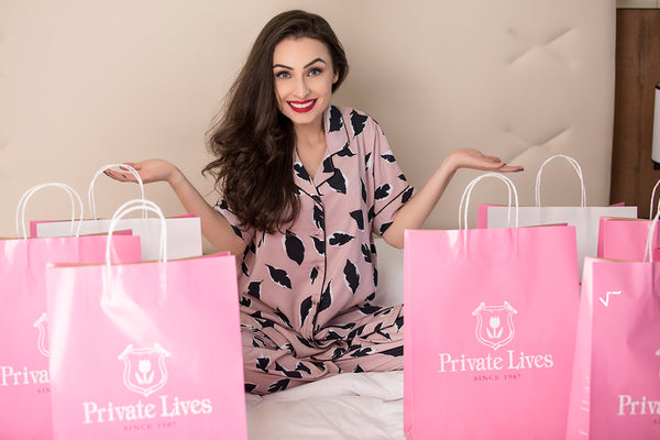 Private Lives Rose Satin Top & Pajama - Private Lives