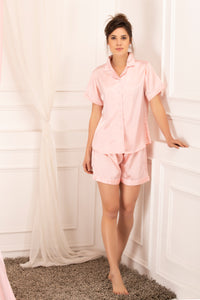Private Lives Peach Satin Top & Shorts - Private Lives