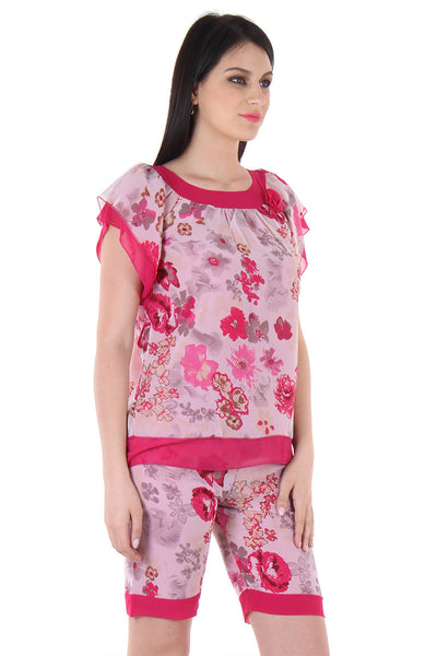 Private Lives Fuschia Top & Shorts