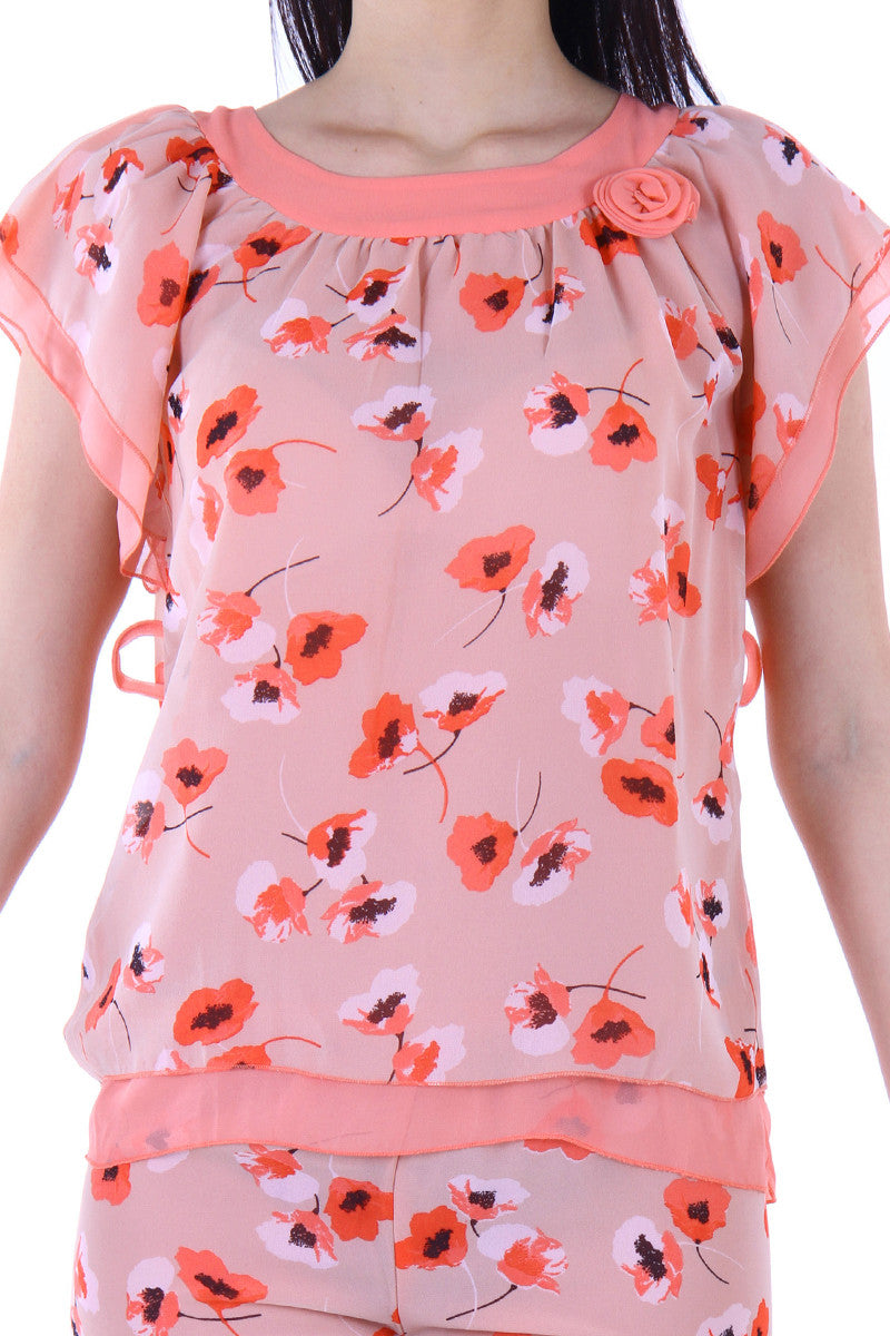 Private Lives Orange Top & Shorts - Private Lives