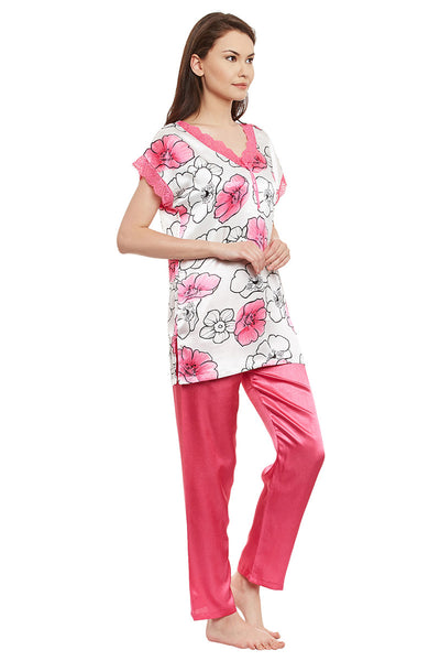 Private Lives Pink Printed Top & Pajama