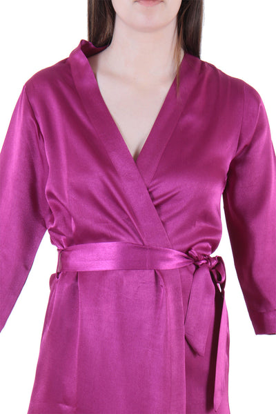 Luxury edition Smooth Satin Short Robe - Private Lives