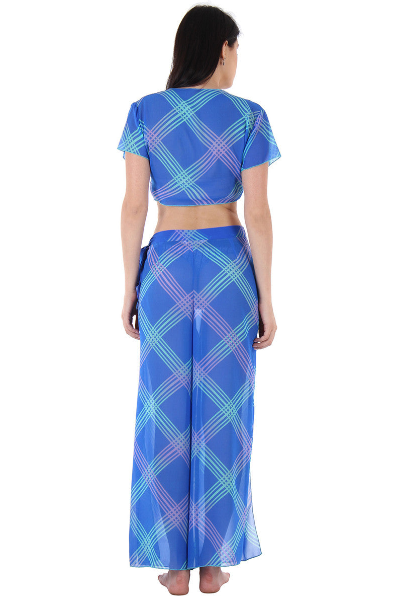 Blue Printed Sarong - Private Lives