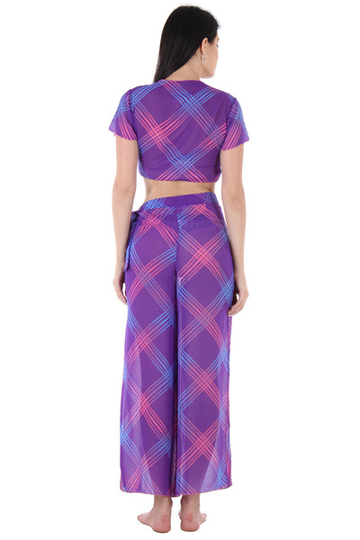 Purple Printed Sarong - Private Lives