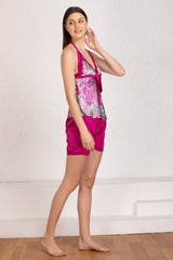 Print satin Night suit