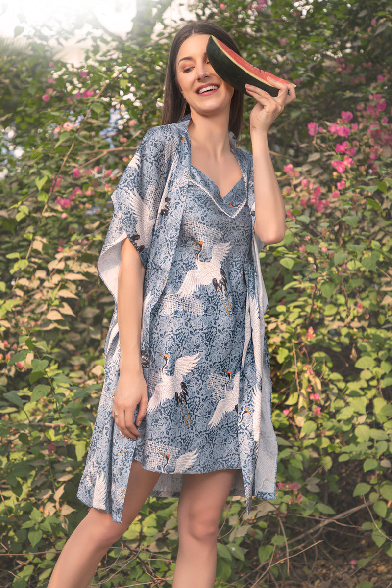 Printed Short Nightgown set