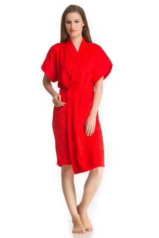 Red Bath Gown